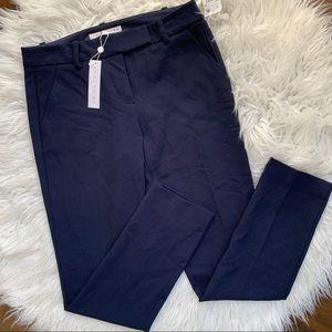 Trina Turk Navy Slim Trousers
